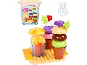 ANDRONI Unico Plus Zmrzlina 25 dílků baby stavebnice v kyblíku plast