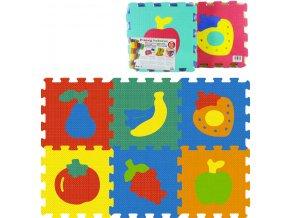114831 baby koberec penove puzzle na zem ovoce zelenina mekke bloky set 6ks