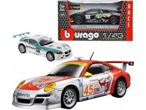 BBURAGO Auto sportovní model 1:43 závodní 8-11cm 6 druhů kov