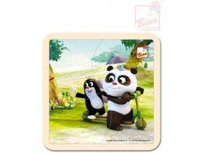 110604 bino drevo puzzle krtecek krtek a panda kolobezka 4 dilky