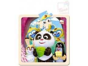110607 bino drevo puzzle krtecek krtek a panda oslava 20 dilku