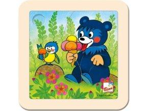 110988 bino drevo puzzle baribal se zmrzlinou drevene hracky