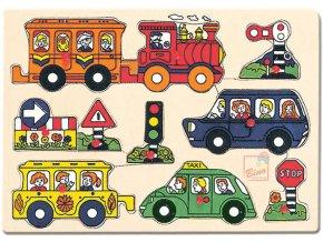 110535 bino drevo puzzle doprava drevene hracky