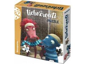 121707 bonaparte puzzle lichozrouti 33x30cm hihlik a ziletka set 100 dilku v krabici