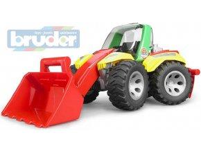 110055 bruder 20106 traktor celni nakladac roadmax model 1 16 plast