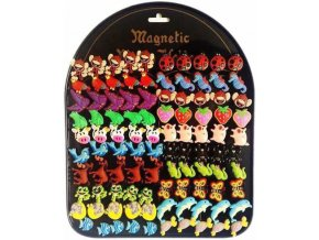 103716 detske magnetky jednotlive 20 druhu zvireci motivy 2 cm na magneticke tabuli