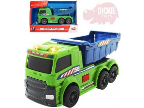 DICKIE Auto nákladní Dump Truck na baterie volný chod Světlo Zvuk