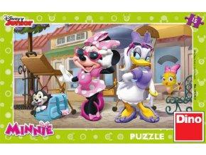 101700 dino hra puzzle disney junior minnie na montmartru 15 dilku v krabici