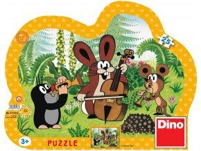 117354 dino hra puzzle krtek muzikant krtecek 25 dilku v krabici