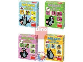 DINO Pexeso MEMO MINI Krtek (krteček) 4 druhy