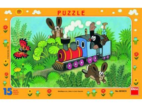116787 dino puzzle 15 dilku krtek krtecek a lokomotiva