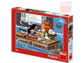 117570 dino puzzle 24 dilku krtek a orel krtecek 26x18cm skladacka v krabici