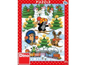 112869 dino puzzle 40 dilku krtek na snehu krtecek 24x32cm