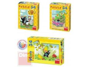 101694 dino puzzle 54 dilku krtecek mix