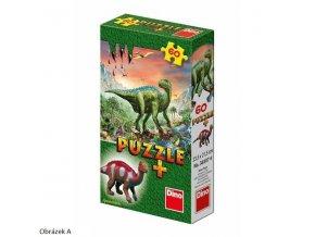 117189 dino puzzle 60 dilku dinosauri 6 druhu figurka dinosaura