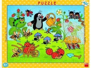 112638 dino puzzle krtek krtecek v jahodach 40 dilku