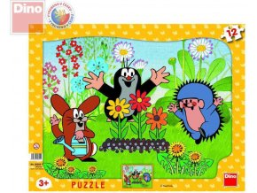 112569 dino puzzle krtek a pratele krtecek 12 dilku tvary