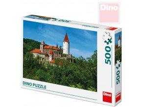 113169 dino puzzle skladacka krivoklat set 500 dilku 47x33cm v krabici