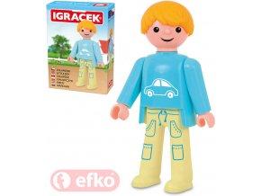 114249 efko igracek chlapecek figurka 7 5cm rodina v krabicce stavebnice
