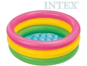 106797 intex bazenek detsky nafukovaci tribarevny 61x22cm kulaty 57107