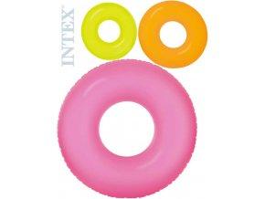 INTEX Kruh neon plavací 91cm nafukovací kolo do vody 3 barvy 59262