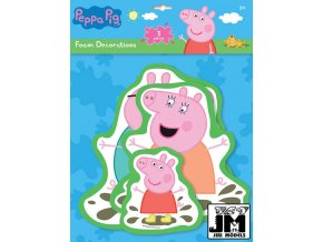 122571 jiri models samolepky penove set 3ks wall decor peppa pig