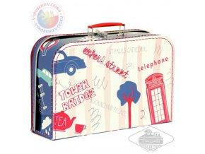 108762 kazeto kufr detsky londyn cerveno modry velky kufrik