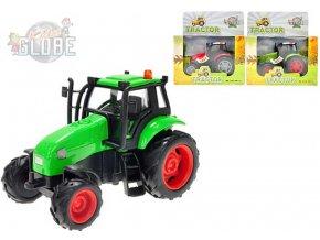 103167 kids globe traktor kovovy 12 cm svetlo zvuk na setrvacnik 3 barvy