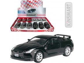 KINSMART Auto model 1:36 NISSAN GT-R R35 2009 kov PB 13cm 4 barvy