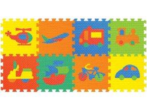 114825 2 koberec penove puzzle dopravni prostredky