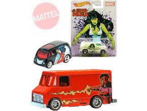 122310 mattel hot wheels marvel auto anglicak 1 64 pop culture 5 druhu kov na karte