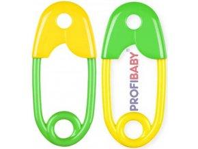 PROFIBABY Chrastítko barevný špendlík 12cm pro miminko 1ks v sáčku mix barev pla