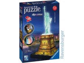 111780 ravensburger puzzle 3d socha svobody nocni edice 108 dilku