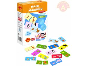 ALEXANDER Hra školou Najdi maminku zvířátka naučná hra v krabici