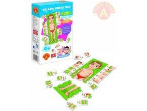ALEXANDER Hra školou Skládej lidské tělo naučná hra v krabici