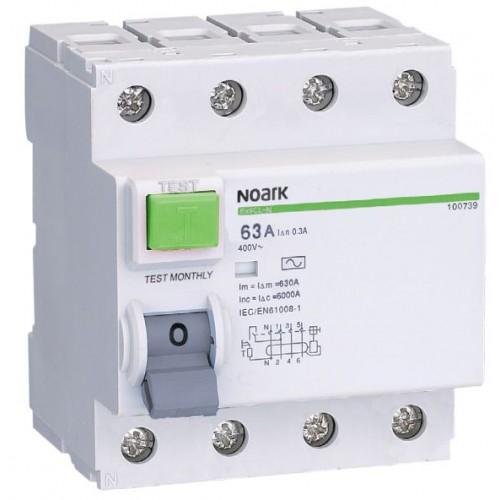 Proudový chránič Noark Ex9CL-H 4P 25A 30mA 100652