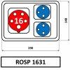 6392(1) rosp 1631 zasuvkova rozvodnice praktik 16a ip54 sez
