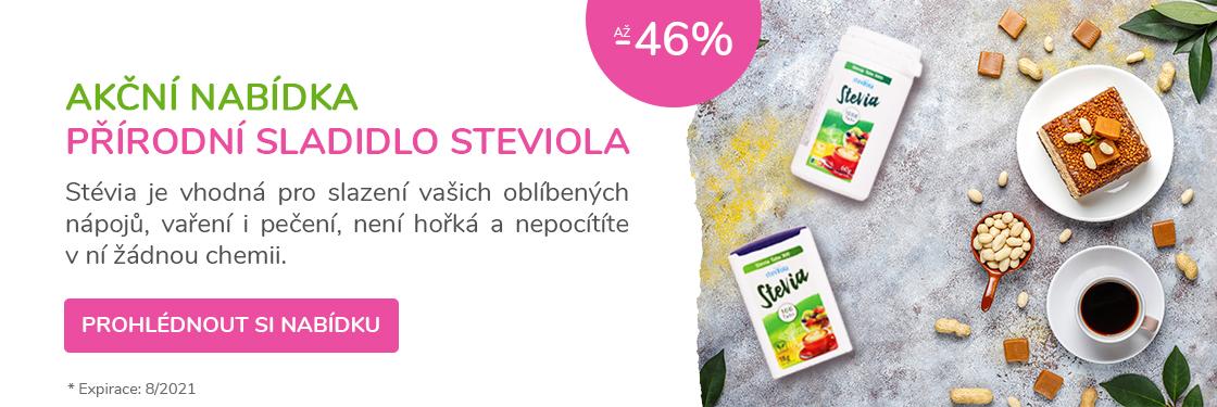 Přírodní sladidlo Stévie <b>ve slevě až -46%</b>
