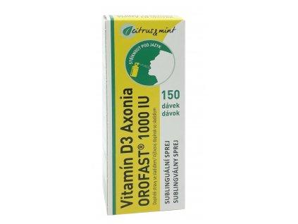 Vitamín D3 OROFAST 1000 IU sublinguální sprej 150 dávek