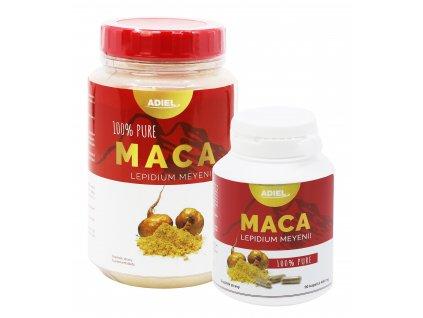 Adiel Maca 100% PURE prášek 400 g + 90 kapslí
