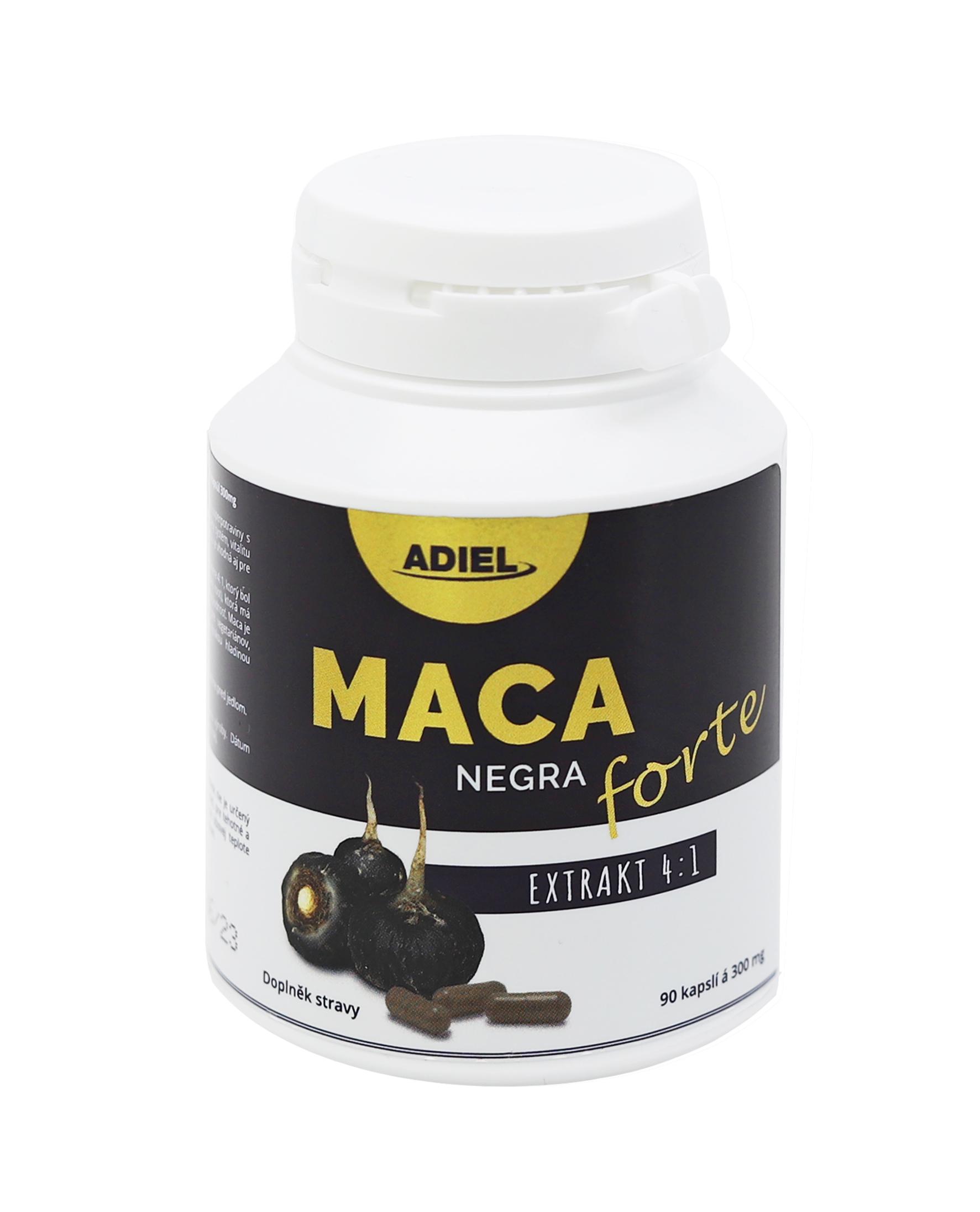 Levně ADIEL Maca negra FORTE 90 kapslí 1 balení: 1x90 kapslí