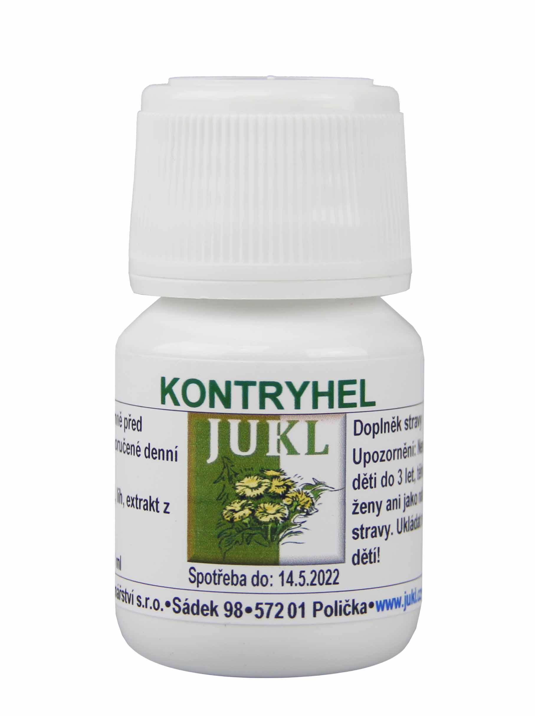 Levně Bylinářství-kořenářství JUKL Tinktura Kontryhel 30 ml 3 balení: 3x 30 ml
