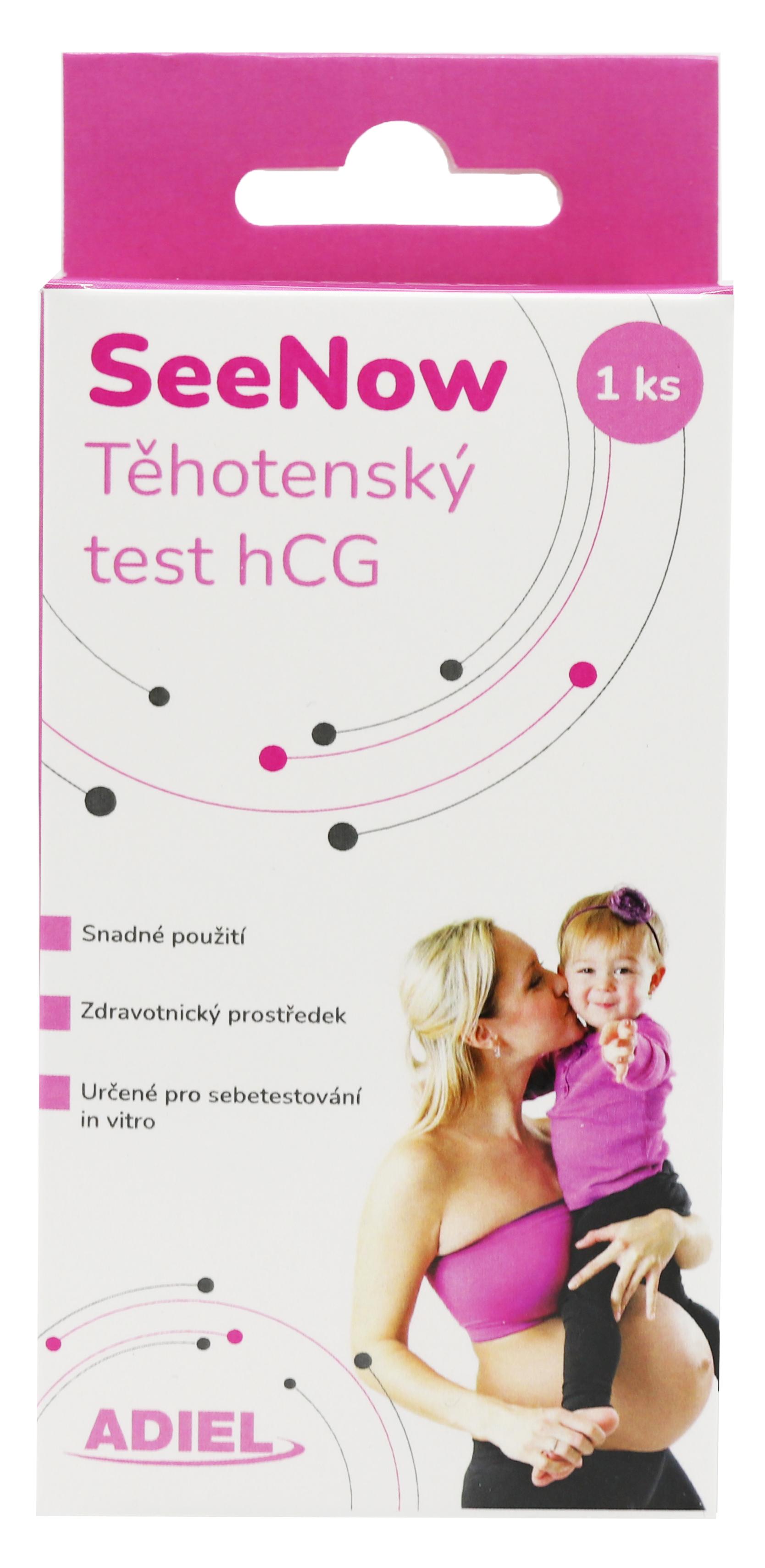 Levně ADIEL SeeNow těhotenský test hCG, 1 ks