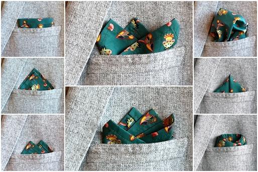 8 originálních způsobů, jak nosit váš oblíbený kapesníček do saka