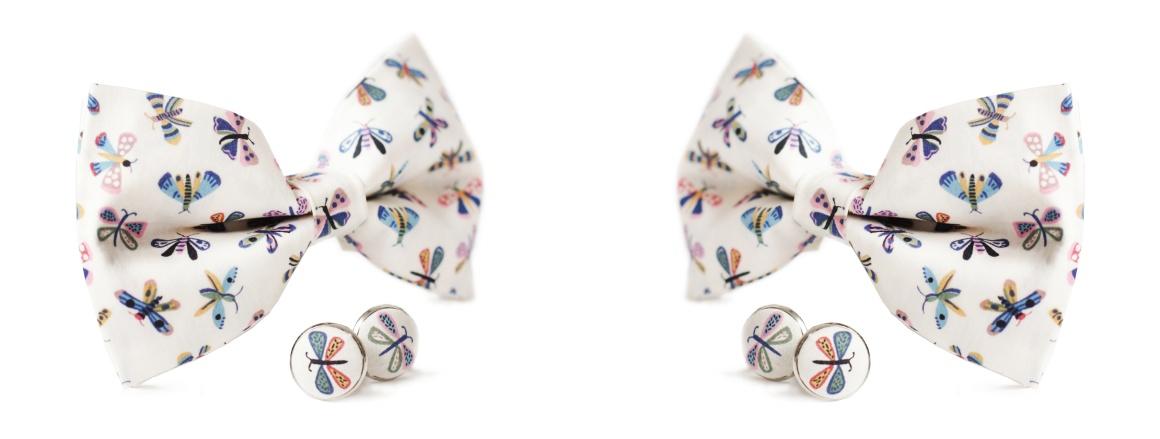 Nový motýlek a manžetové knoflíky Otakar