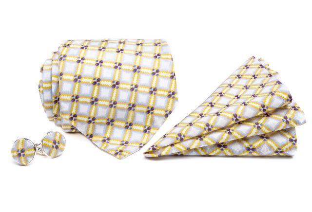 0098_set-zlute-a-sede-kostkovane-kravaty-kapesnicku-a-manzetovych-knofliku-Paul-min