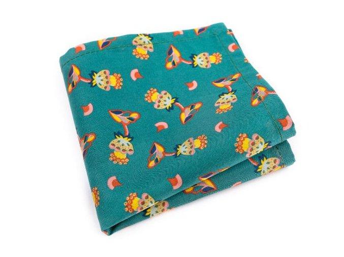 0023 zeleny kapesnicek s kvetinovym vzorem george