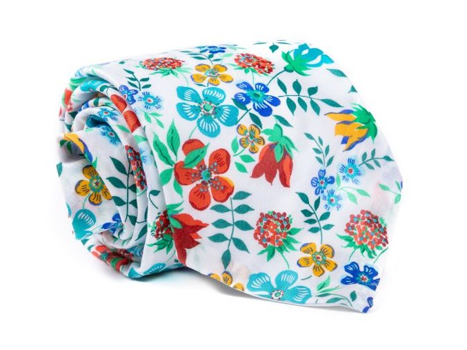 0052 bila kravata s kvetinami lucas min