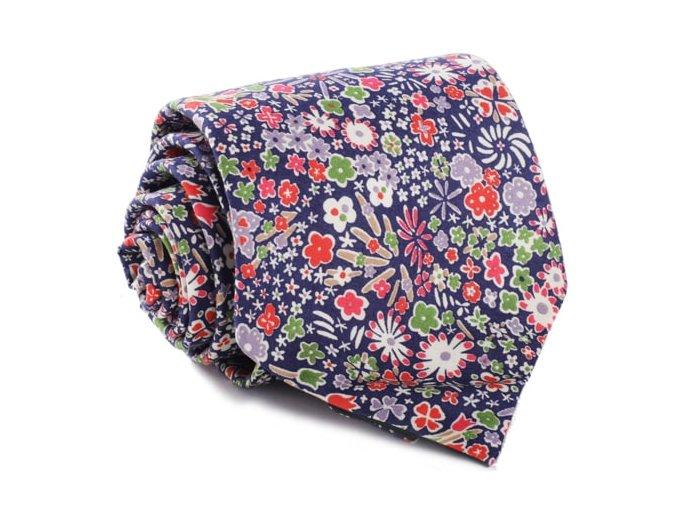 0108 tmave modra kravata s barevnymi kvety peter otto kilian min