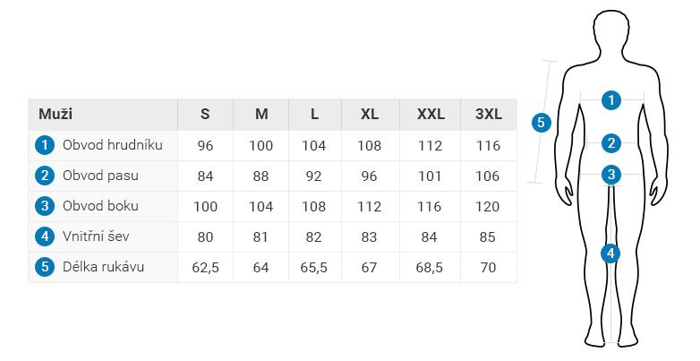 2117 tabulka velikostí muži